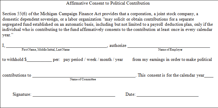 Michigan Elections Disclosure Division Corporations Joint – One Parent Travel Consent Form